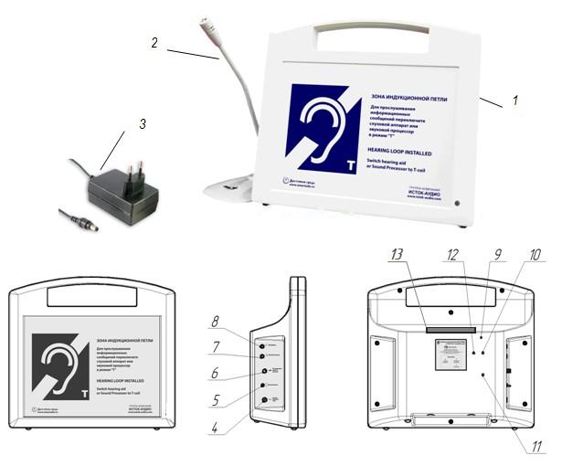 Внешний вид системы информационной «ИСТОК» А2 со встроенным плеером – звуковым информатором